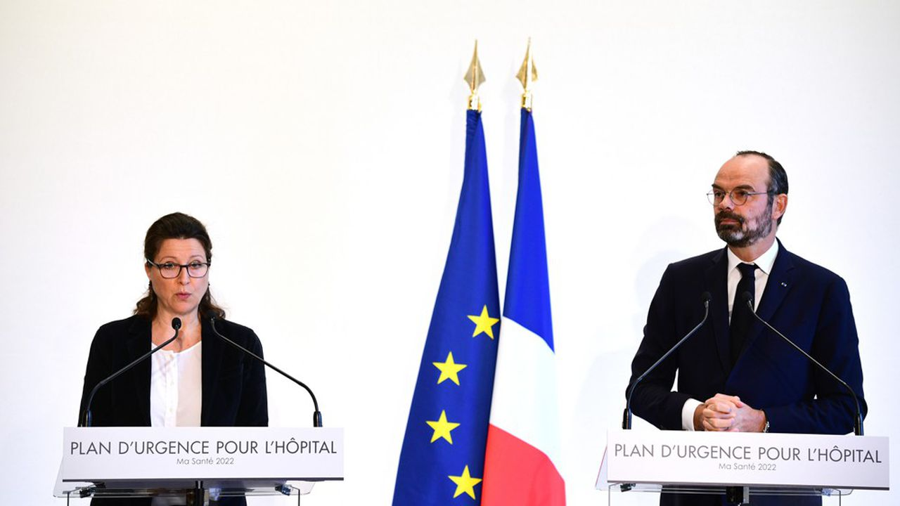 Agnès Buzyn, la ministre de la Santé, et Edouard Philippe, le Premier ministre.