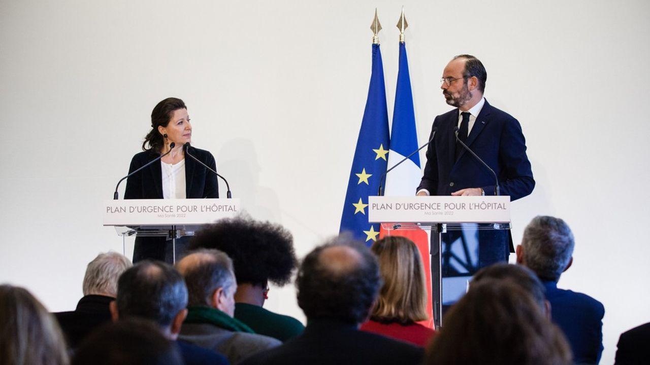 La ministre de la Santé, Agnès Buzyn, et le Premier ministre, Edouard Philippe, ont présenté ce mercredi le plan d'urgence pour l'hôpital.