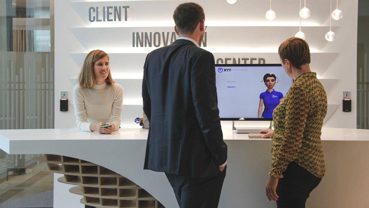 Le géant japonais des télécoms NTT a inauguré mercredi son premier centre d'innovation client en Europe (photo).