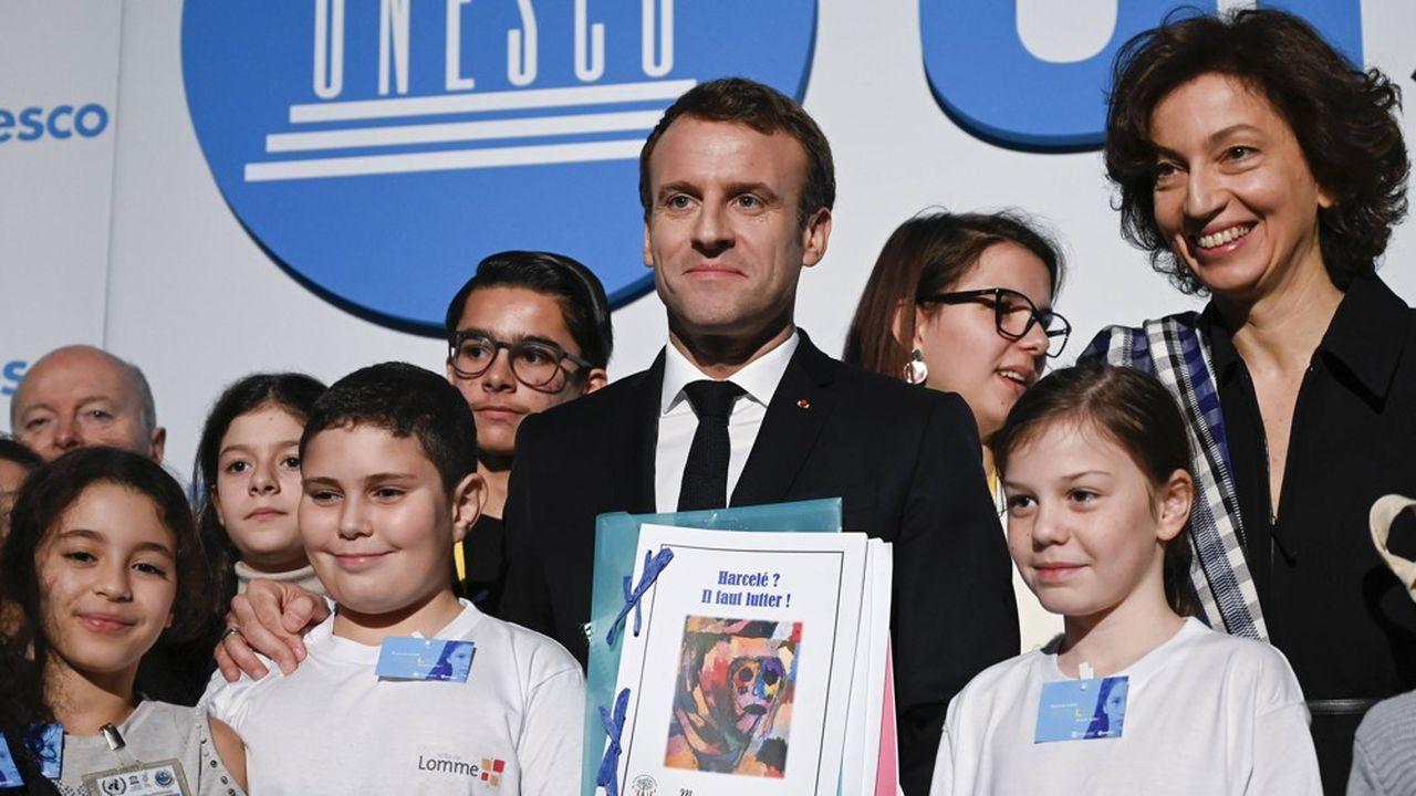 Lors de son discours à l'Unesco, Emmanuel Macron a donné six mois aux acteurs de l'internet pour «mettre en place un contrôle parental par défaut».