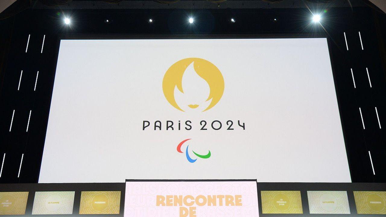 Le logo des Jeux Olympiques et paralympiques de 2024, qui se tiendront l'été prochain à Paris.