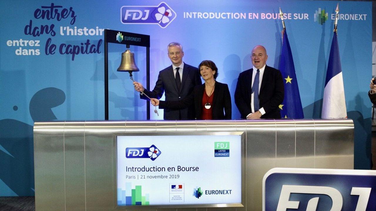Pour son premier jour de cotation, la FDJ s'envole en Bourse.