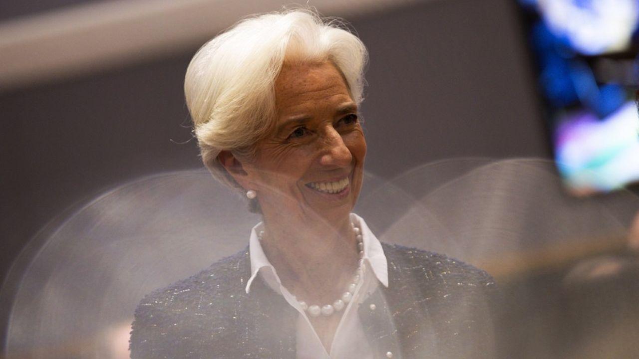 Christine Lagarde, présidente de la Banque centrale européenne, lors d'une réunion de l'Eurogroupe a Bruxelles, le 8novembre 2019.