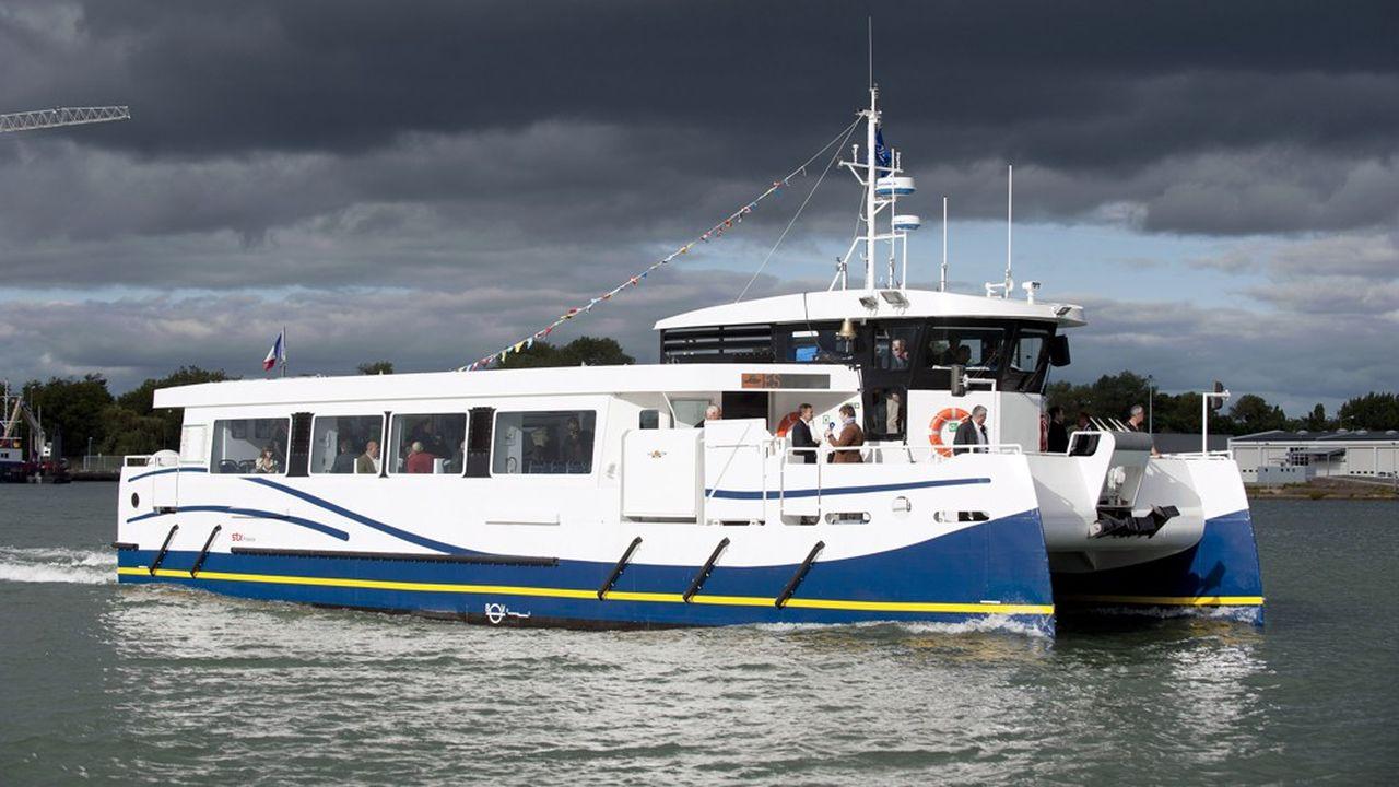Le catamaran actuel effectue pour le réseau des transports en commun de Lorient Agglomération 28 allers et retours par jour.