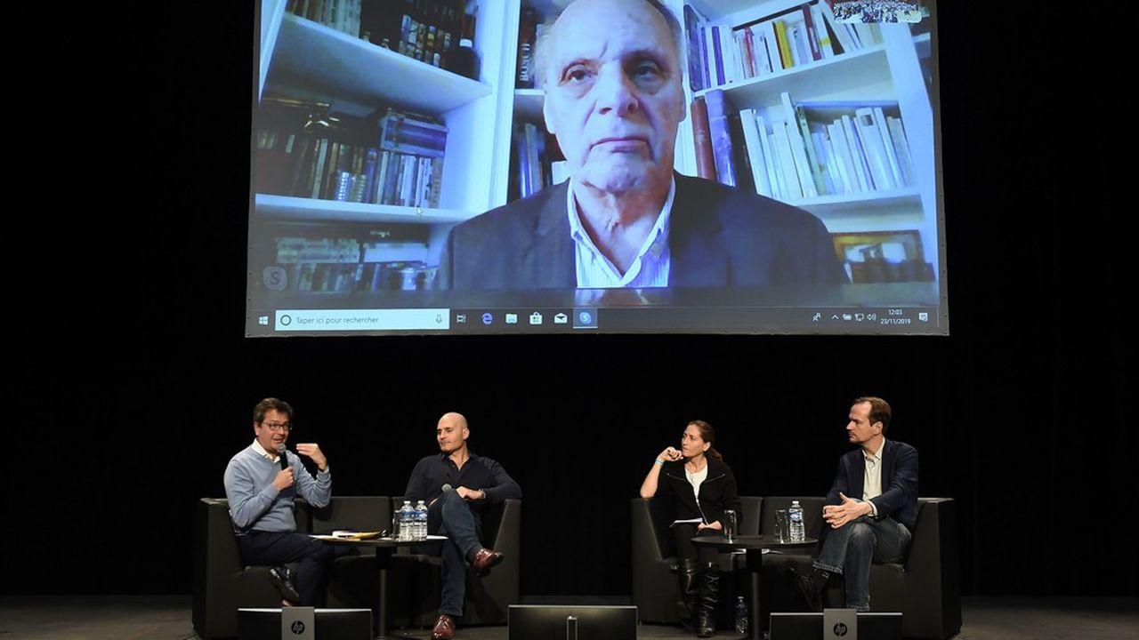 Pour parler de la santé, aux Rencontres de l'avenir (Saint-Raphaël) : Fabrice Lundy, Sacha Loiseau, Cynthia Fleury, David Gruson et Guy Vallencien, en visioconférence.