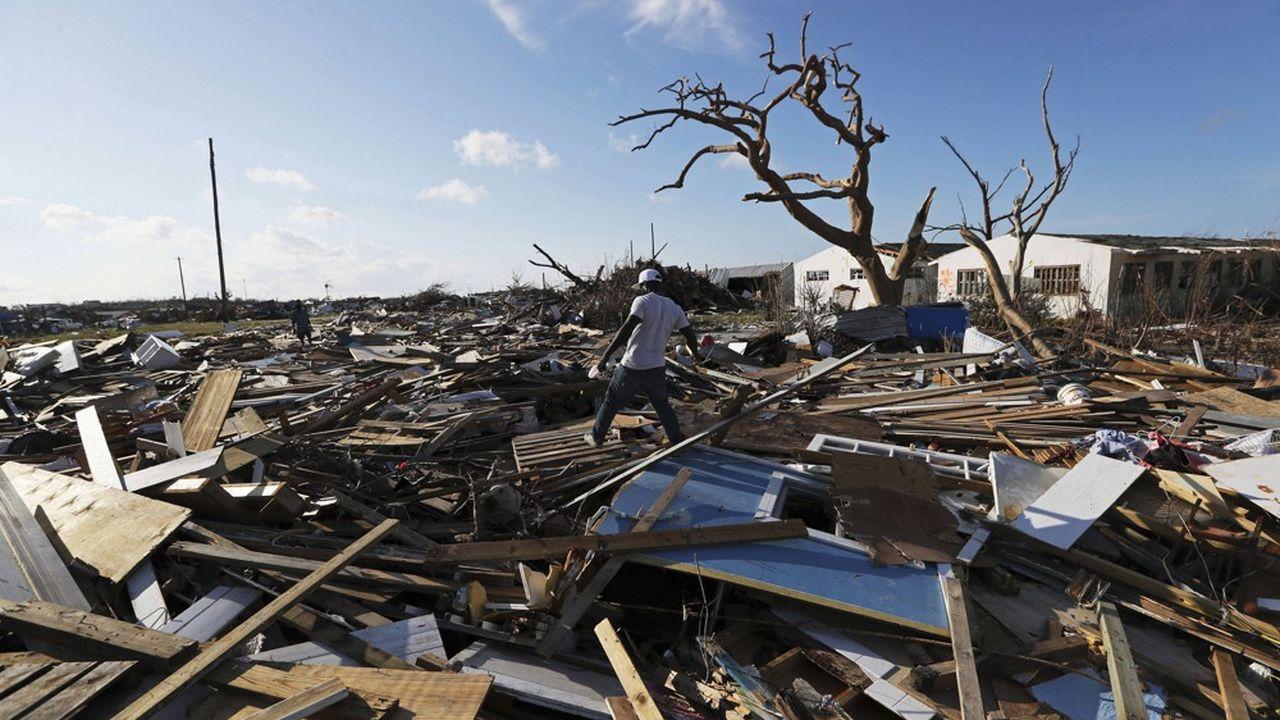 Après le passage de l'ouragan Dorian, aux Bahamas, en septembre dernier. Dorian est l'ouragan le plus puissant à s'être abattu sur les Bahamas.
