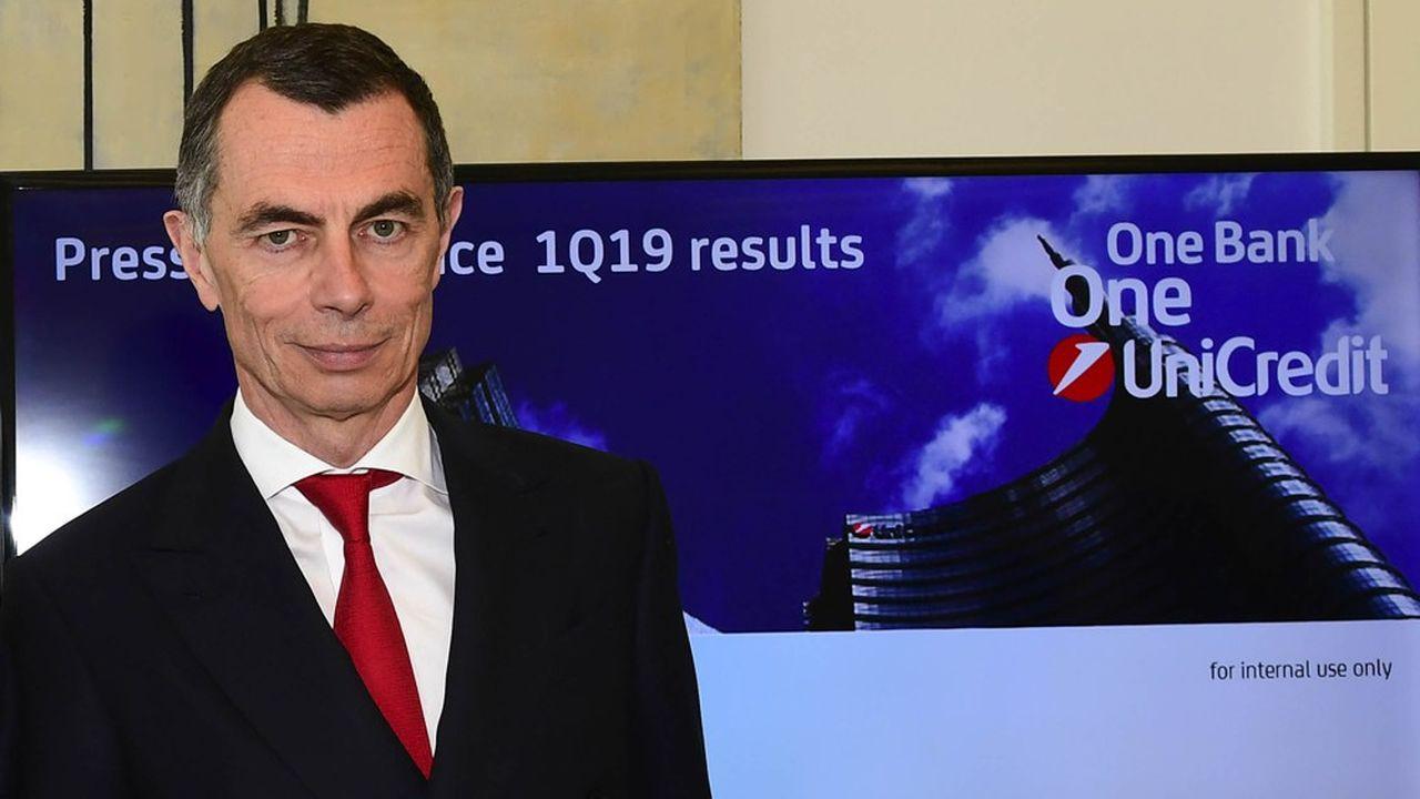 Jean-Pierre Mustier, le patron d'UniCredit,présentera son plan stratégique le 3 décembre.