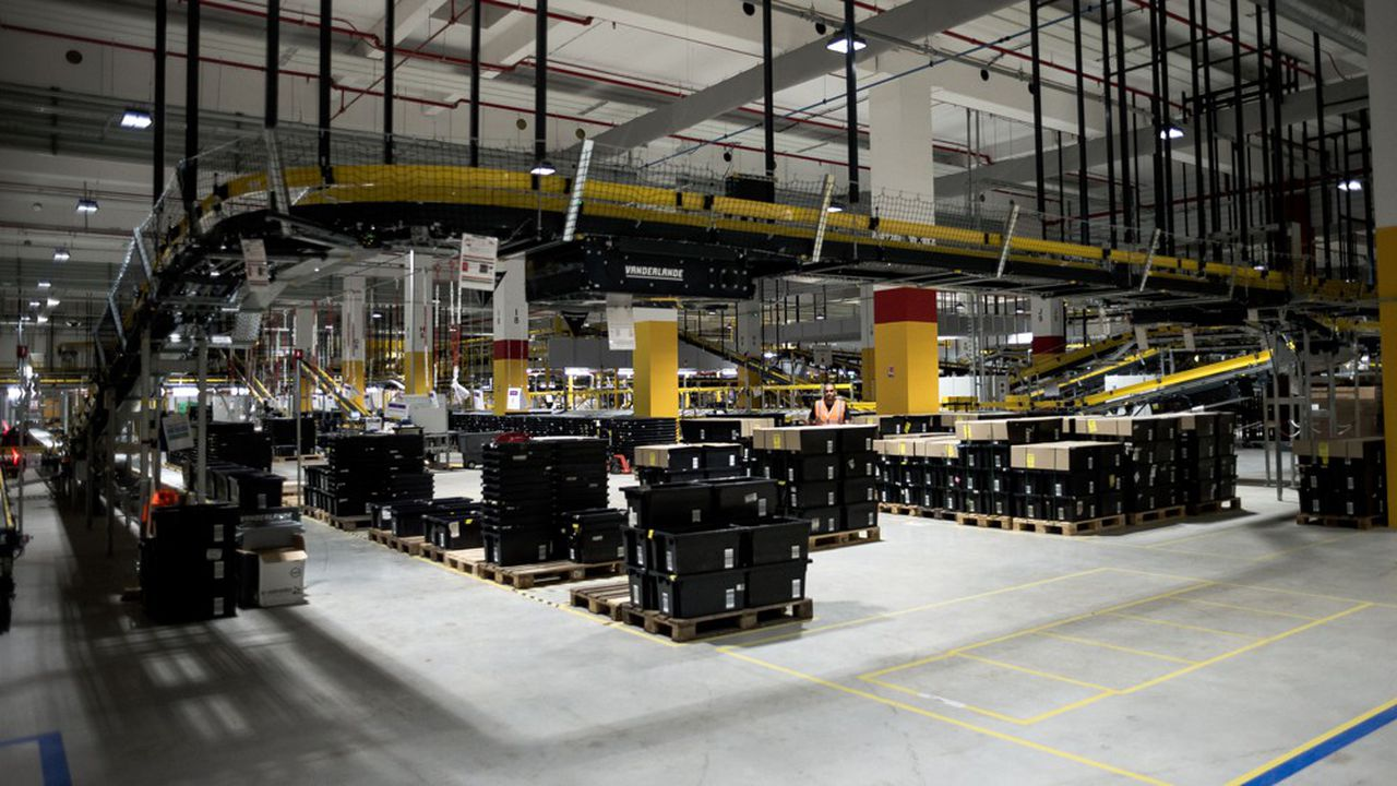 Le centre de distribution Amazon à Brétigny-sur-Orge, au sud de Paris.