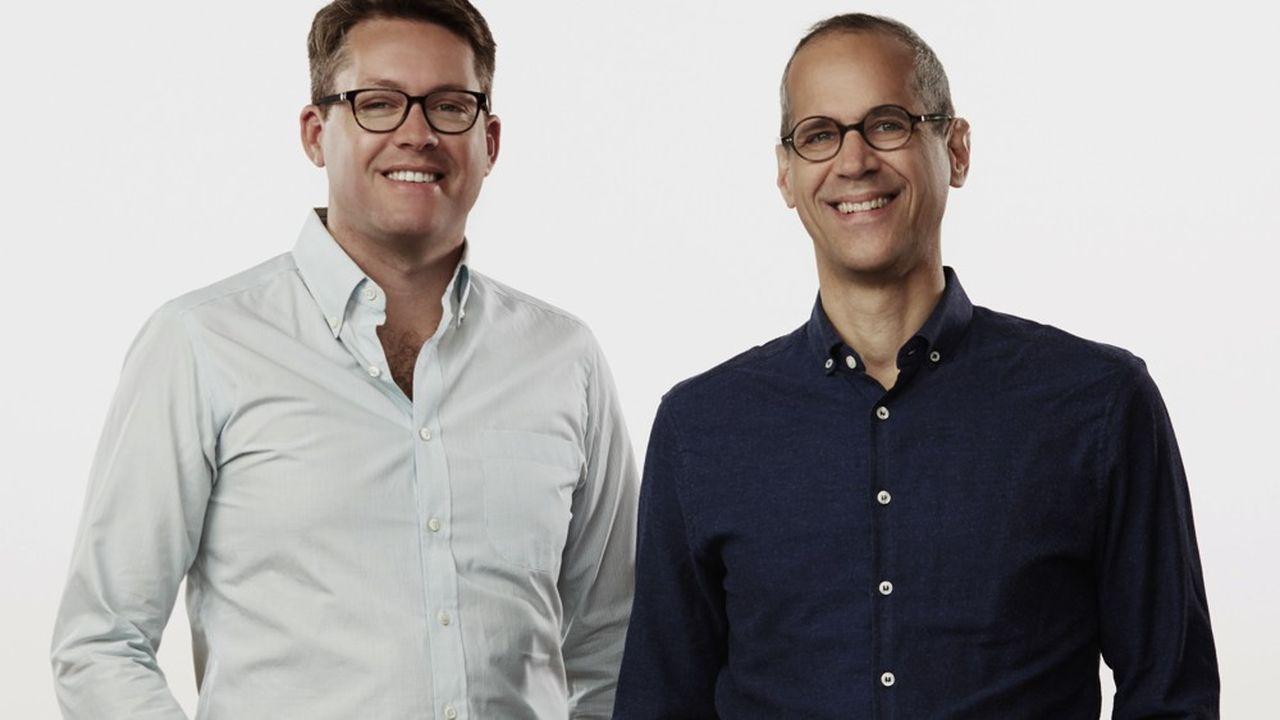 Le président de Gimlet Media, Matt Lieber et Alex Blumberg.