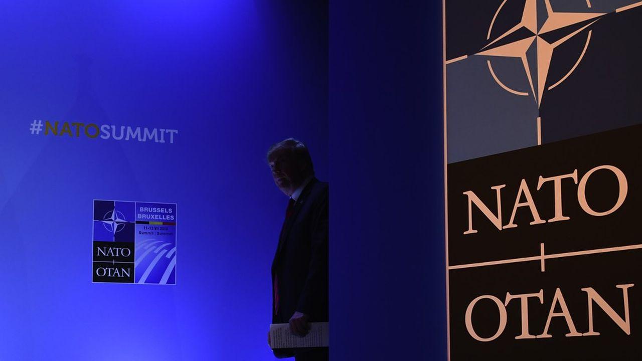 Le président Trump au sommet de l'OTAN, en juillet2018. (Photo by Brendan Smialowski/AFP)
