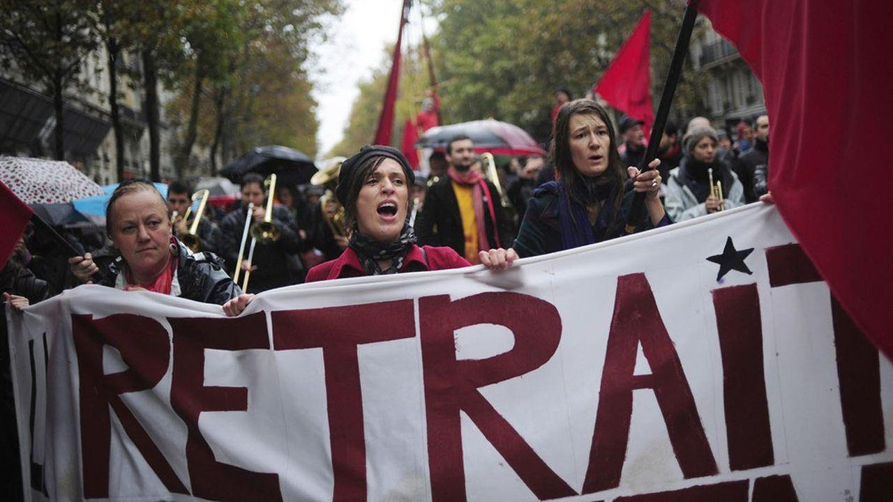 Manifestation à Paris le 6 november 2010.