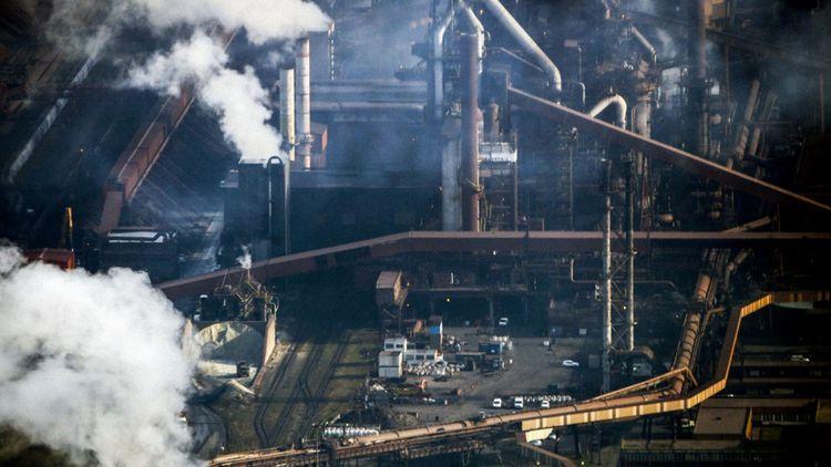 Acierie Arcelor à Dunkerque... un projet de captage et de séquestration de carbone est à l'étude.