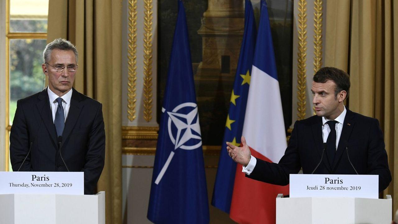 Le président français Emmanuel Macron, en recevant jeudi à l'Elysée le secrétaire général de l'OTAN Jens Stoltenberg, a souhaité lancer une discussion sur la stratégie de l'Alliance Atlantique lors d'un sommet à Londres les 3 et 4décembre prochains, y compris sur les relations avec la Russie.