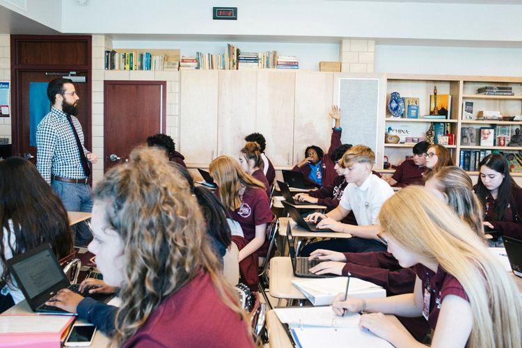 Le lycée de Chalmette, en Louisiane. Au classement 2015, les Etats-Unis étaient 25e.
