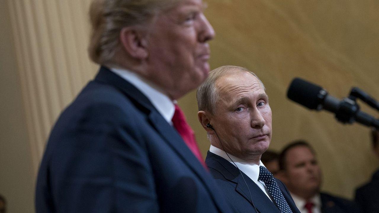 Donald Trump, le nationalo-populiste et Vladimir Poutine, le premier des occidentalo-sceptiques se trouvent chacun d'un bout à l'autre du spectre des autoritaires, selon une classification de l'auteur.