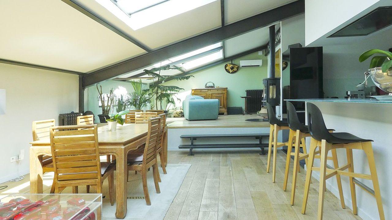 Pièces de vie de 66 m² baignée de lumière