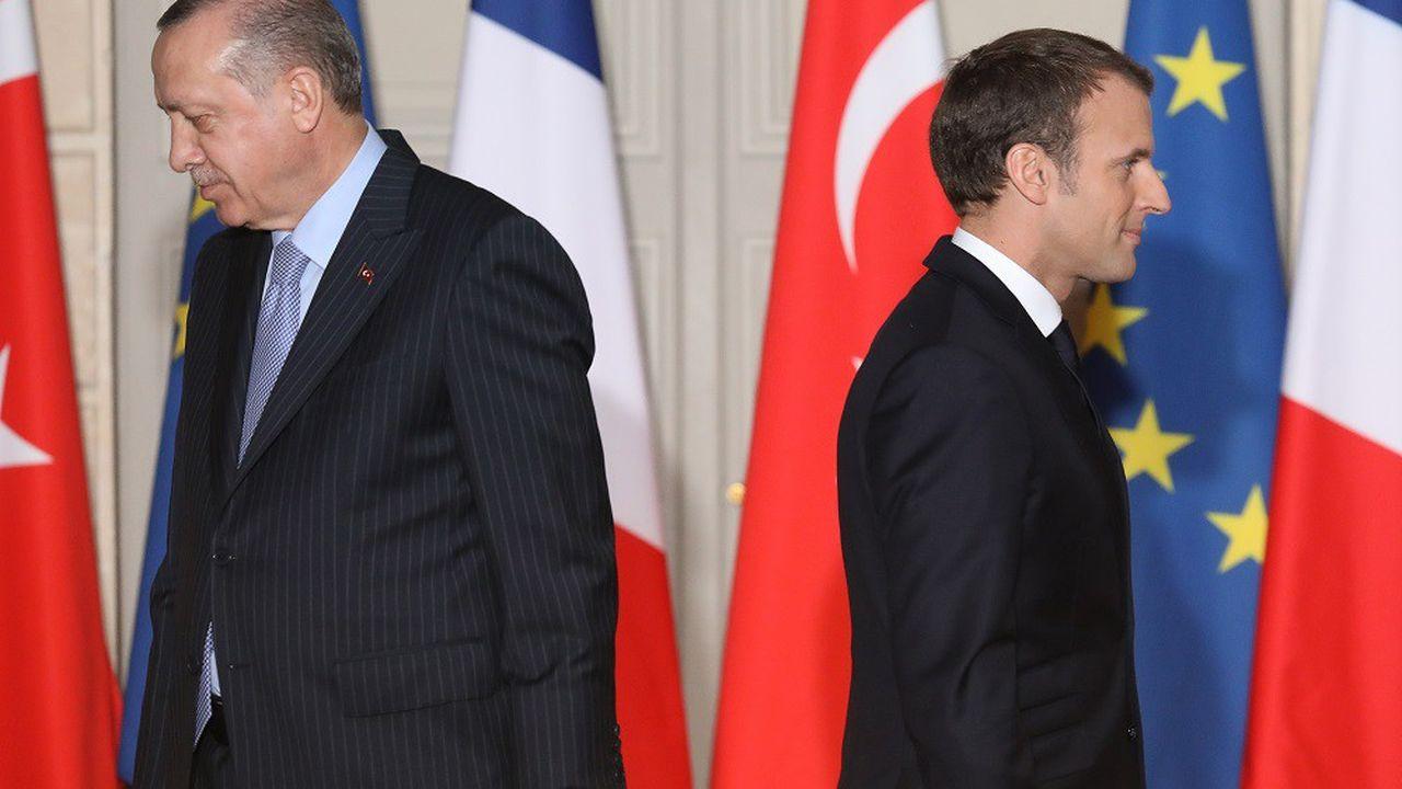 Recep Erdogan s'en est pris à Emmanuel Macron pour ses propos sur l'Otan.