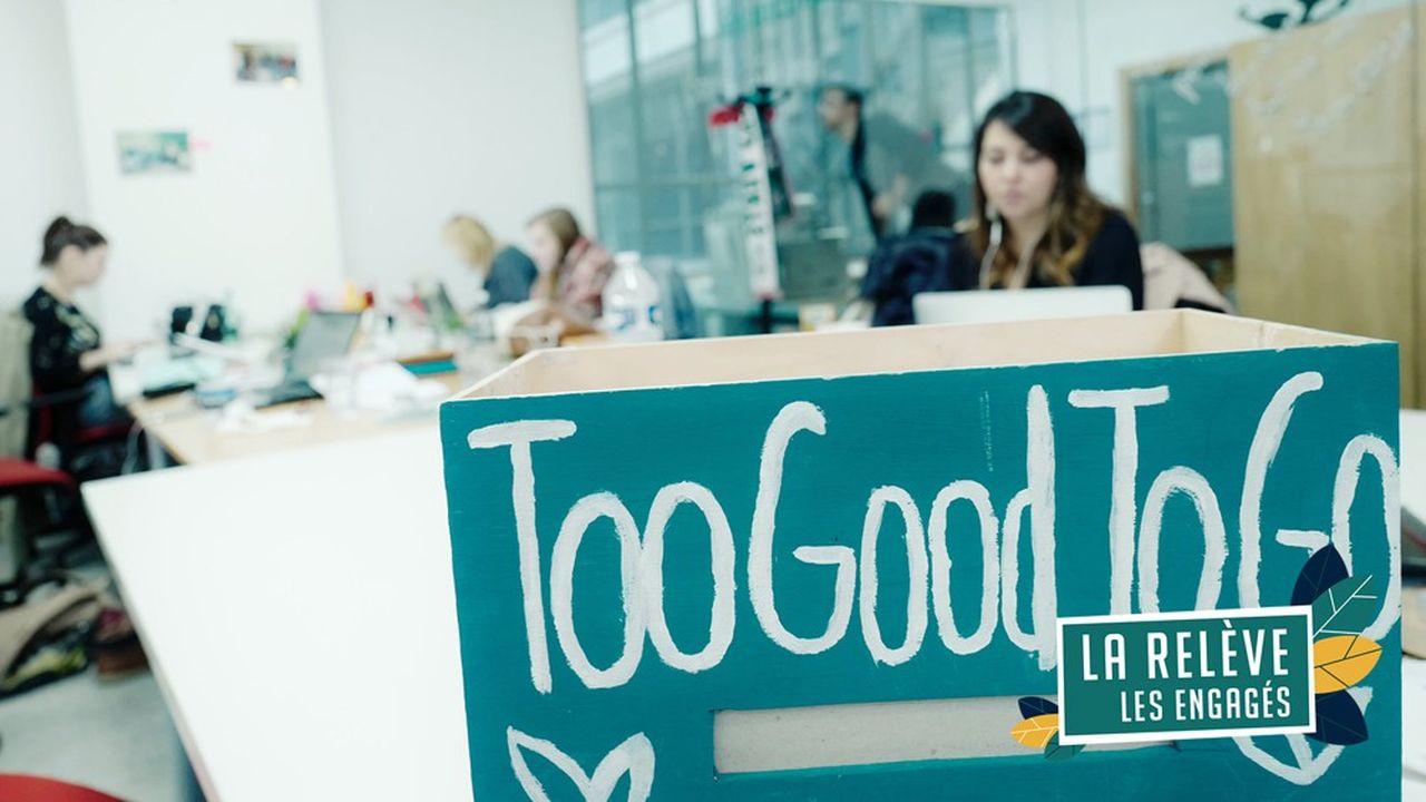Au siège de la start-up Too good to go, application qui lutte contre le gaspillage alimentaire. Elle vient de signer un partenariat avec Intermarché.
