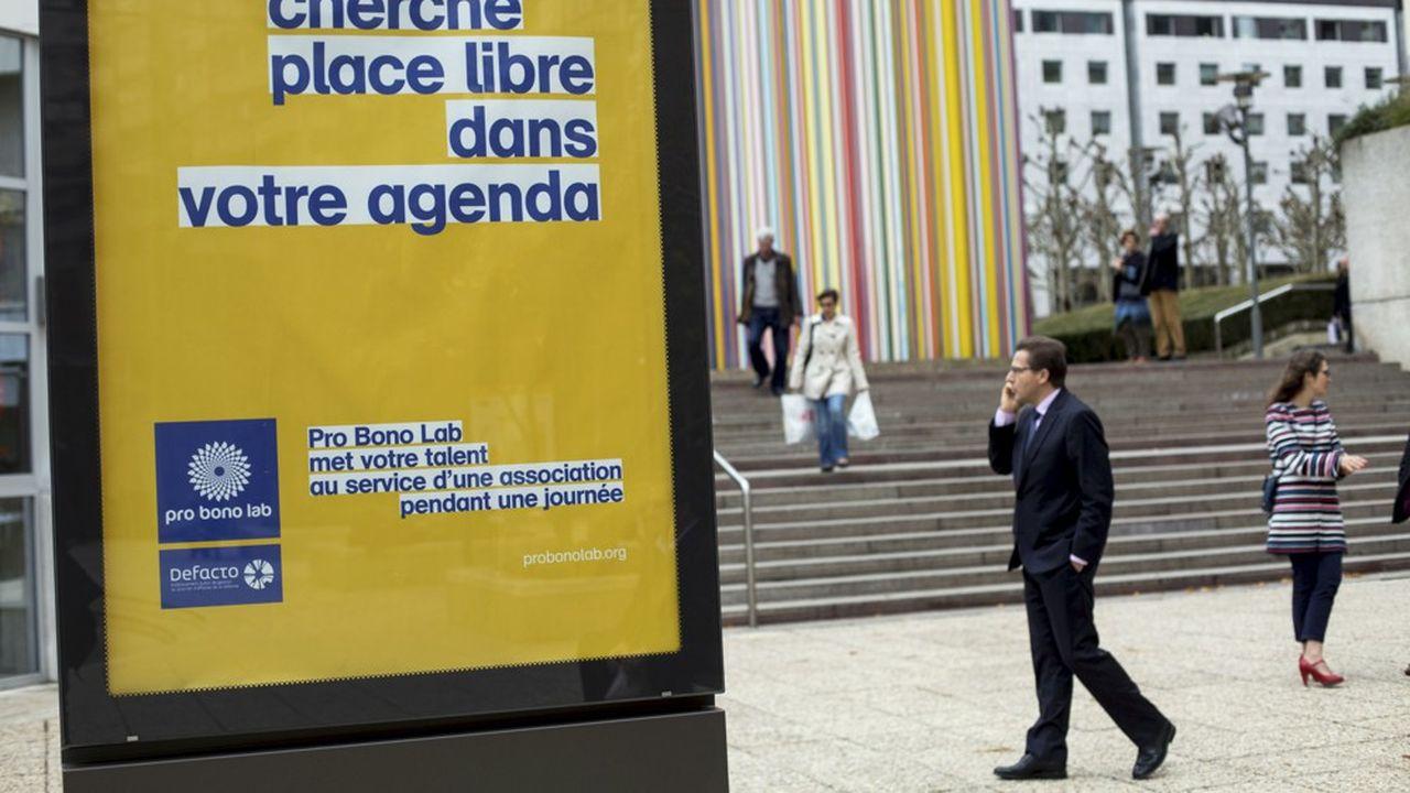 Campagne de publicite pour la Pro Bono Week.