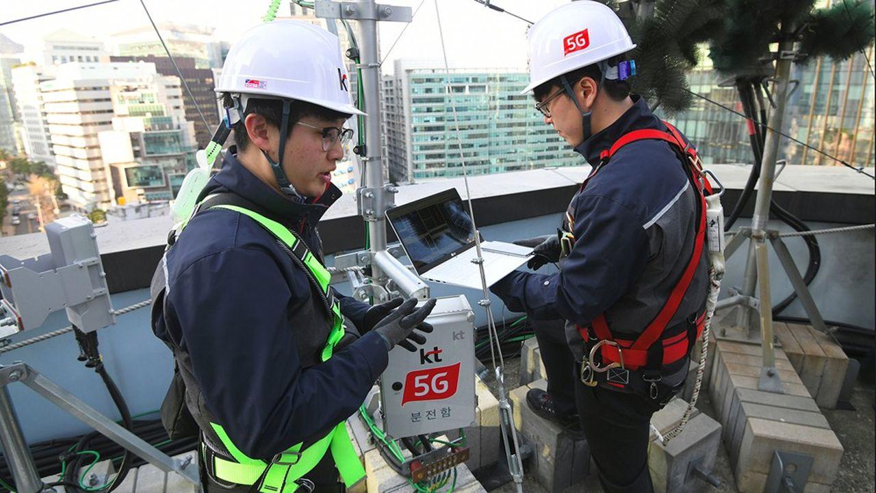 En Corée du Sud, les opérateurs télécoms comme KT (photo) ont eu recours au «spectrum sharing» pour lancer plus rapidement la 5G.