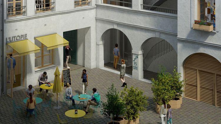 Une conciergerie-café sera installée en rez-de-chaussée
