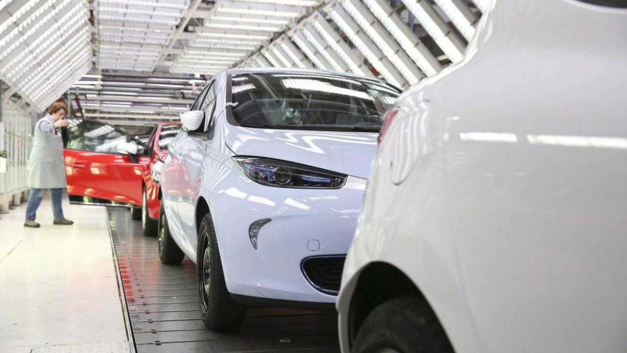 L'usine Renault de Flins est la seule au monde à produire la voiture électrique Zoé.