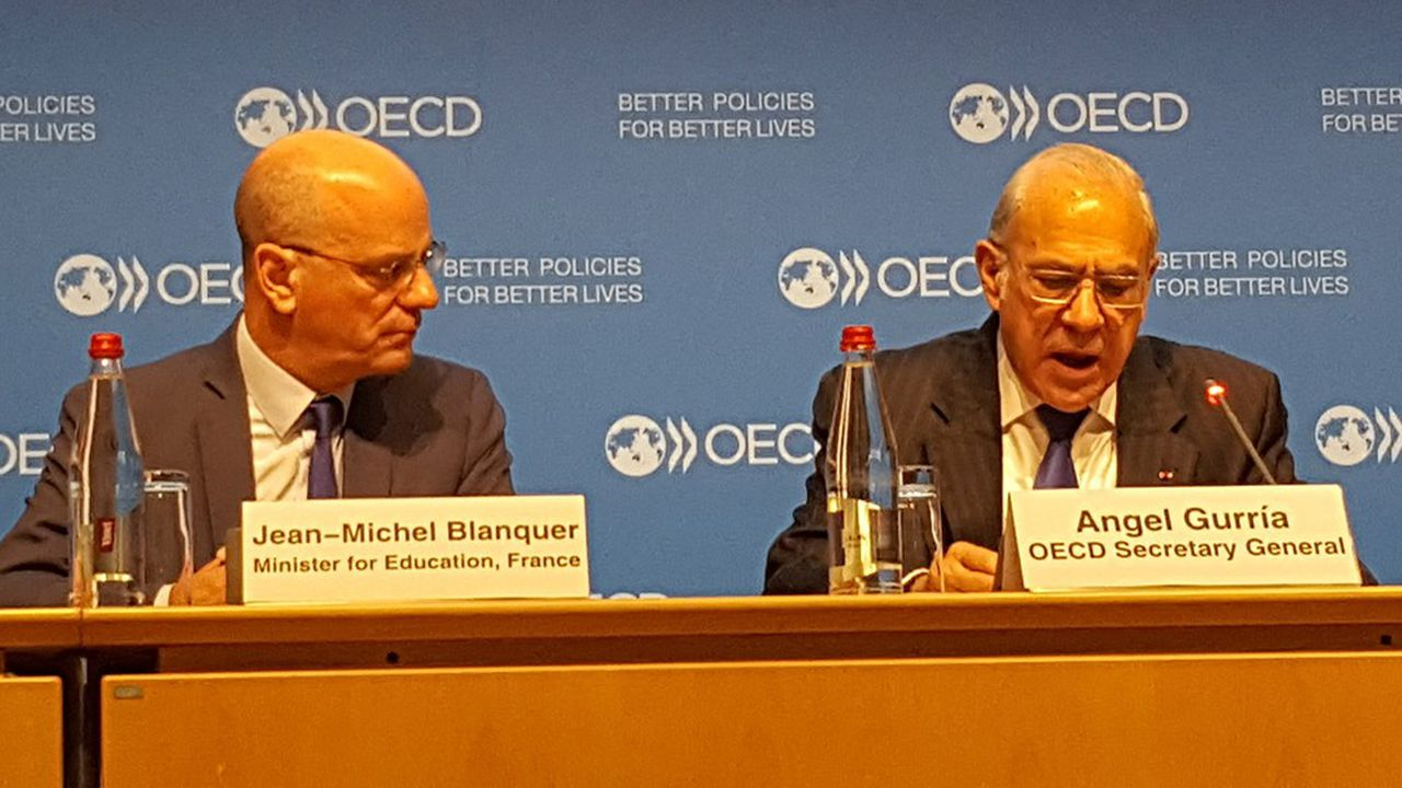 Les résultats de la France sont à la fois «honorables» et «insatisfaisants», a admis Jean-Michel Blanquer, lors de la présentation des résultats de l'enquête Pisa, ce mardi, à l'OCDE.