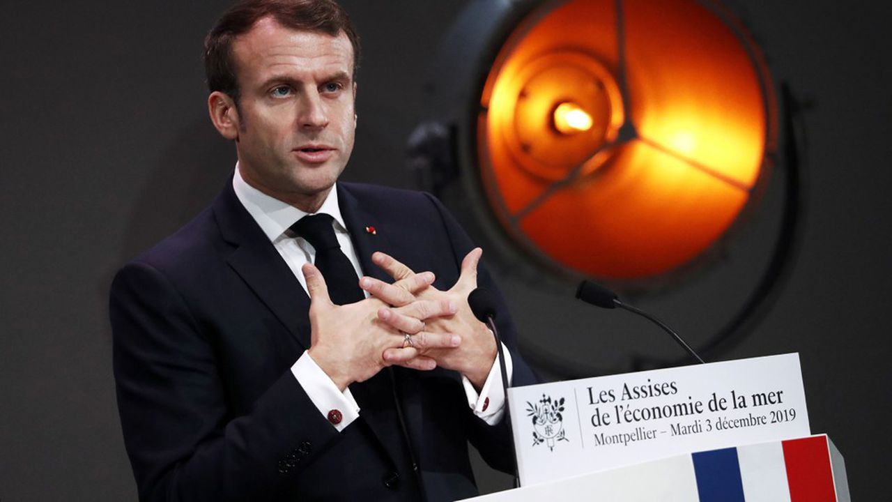 Emmanuel Macron à Montpellier pour les Assises de la mer.
