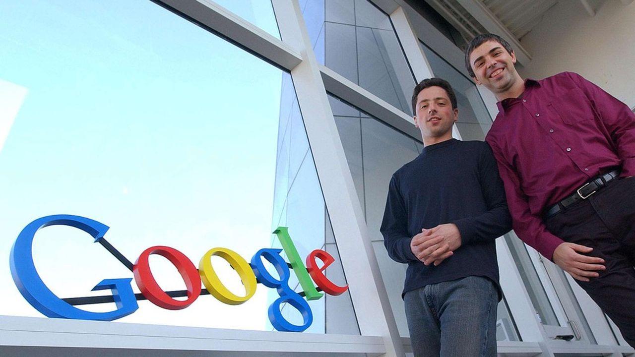 Sergey Brin et Larry Page ont fondé Google en 1998 et Alphabet en 2015.