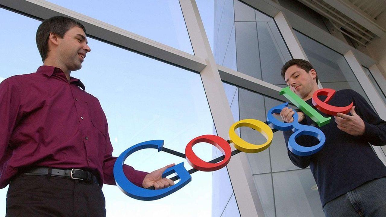 Larry Page et Sergey Brin, en2004