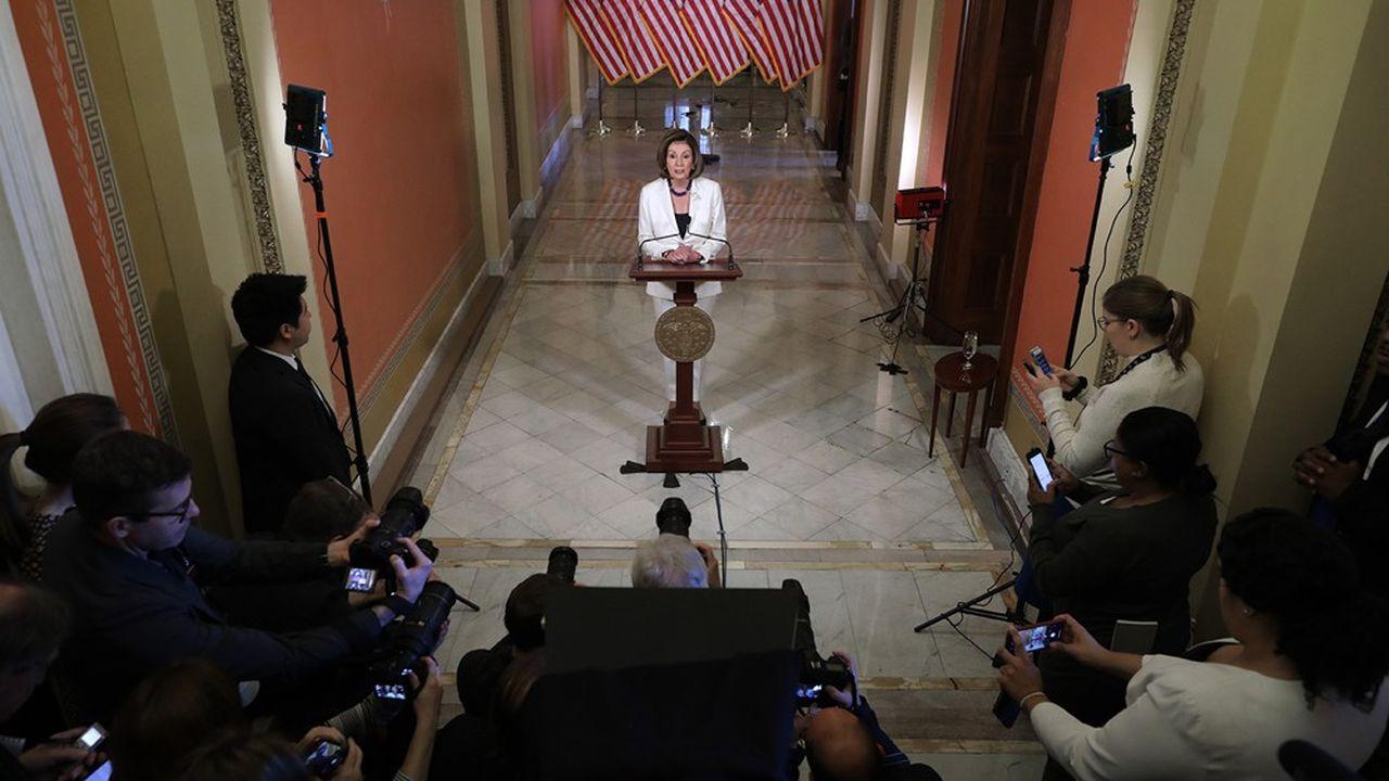 «Je demande aujourd'hui au président [de la commission judiciaire de la Chambre des représentants, Jerry Nadler] d'entamer la rédaction des articles de mise en accusation», a lancé ce jeudi matin Nancy Pelosi.