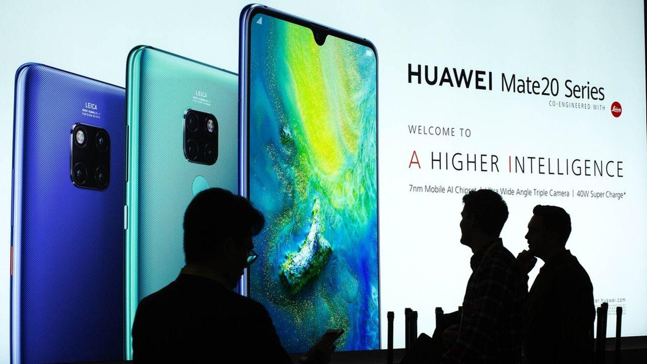 Huawei, lors d'une présentation au Consumer Electronic Show (CES) en 2019, à Las Vegas.