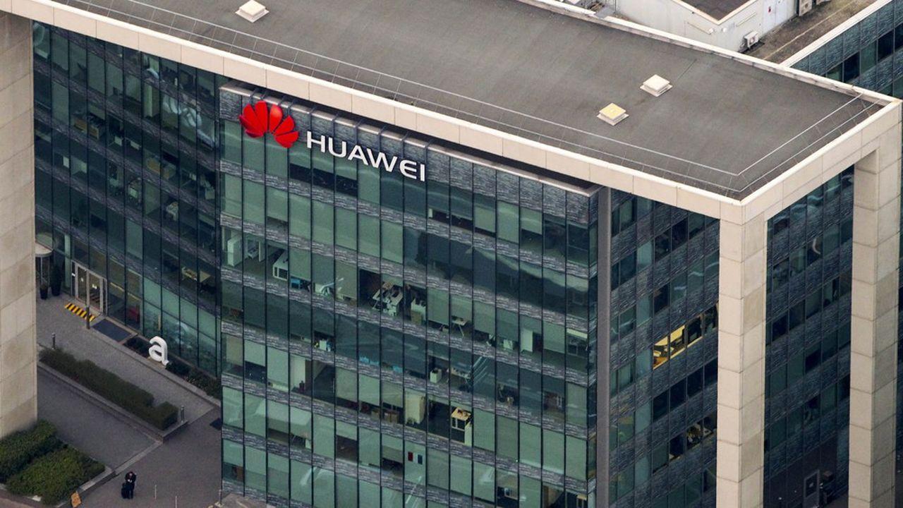 Le siège de Huawei France à Boulogne-Billancourt. Le groupe chinois est présent dans l'Hexagone depuis plus de quinzeans.