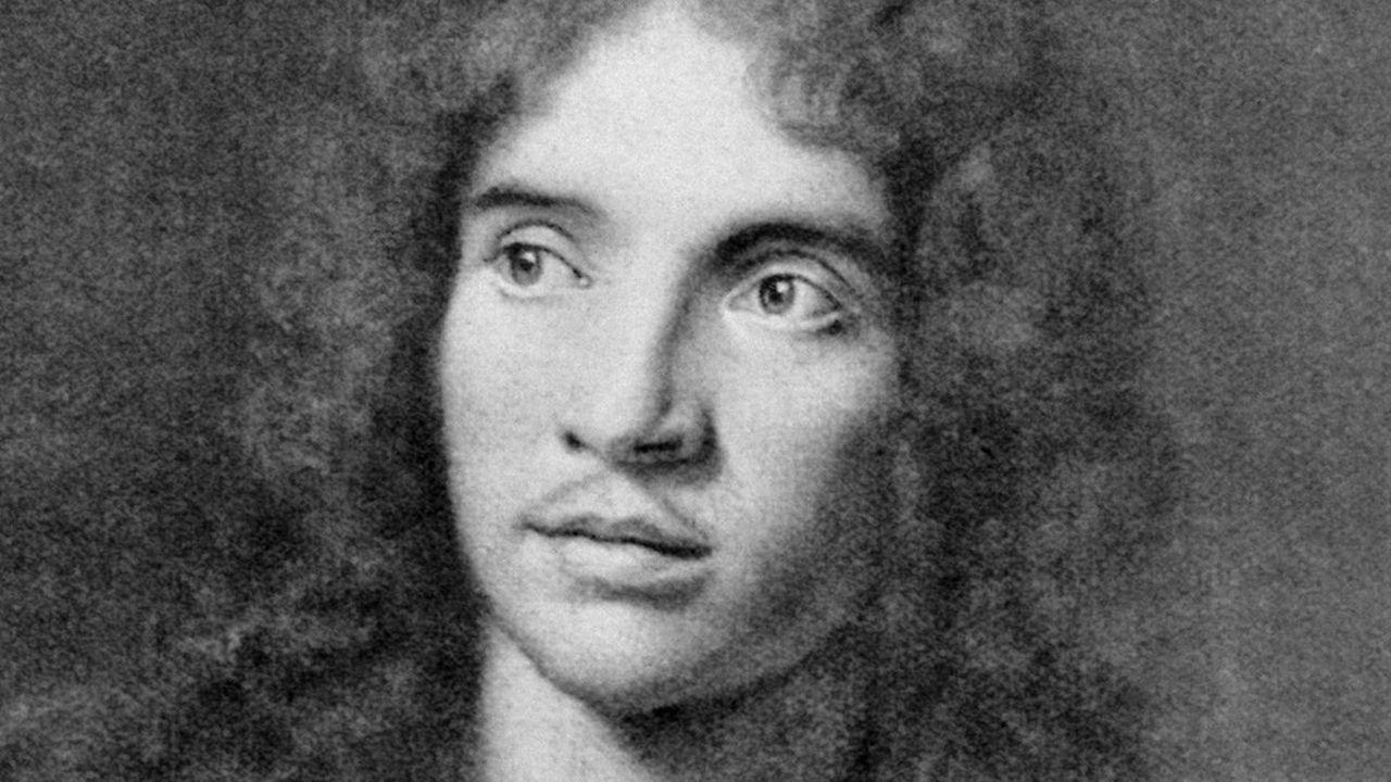Portrait du dramaturge et comédien Jean-Baptiste Poquelin, dit Molière (baptisé le 15 janvier 1622 àParis et mort le 17 février 1673) d'après un tableau attribué àPierre Mignard. (Photo by -/AFP)