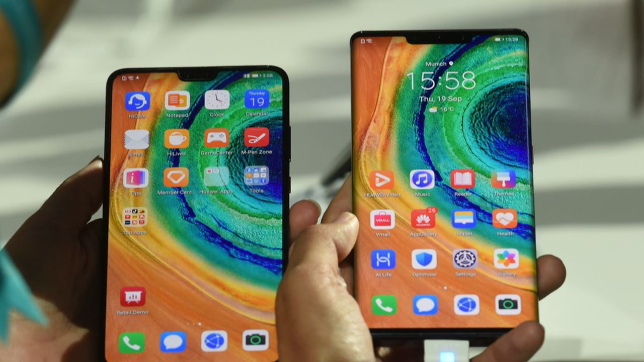 Les deux smartphones de Huawei, le Mate30 et le Mate30 Pro, ont été présentés mi-septembre à Munich.