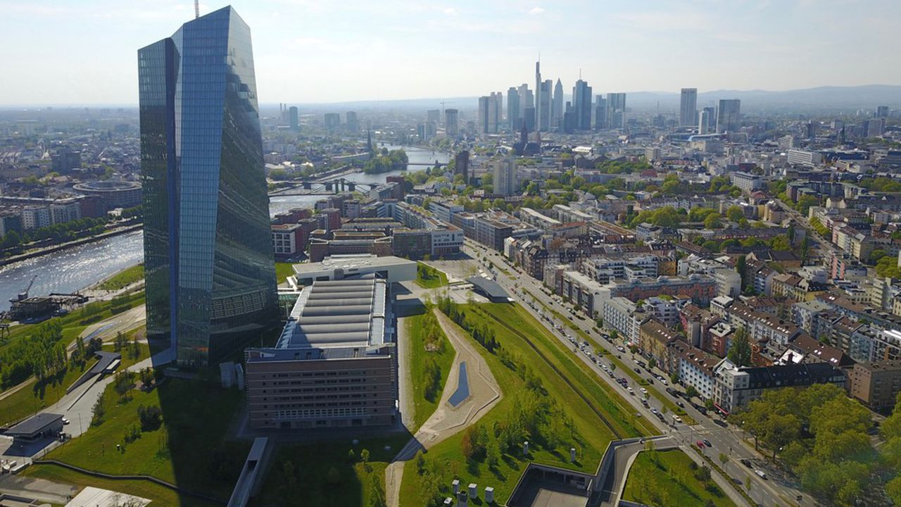 Le siège de la Banque centrale européenne à Francfort-sur-le-Main, en Allemagne.