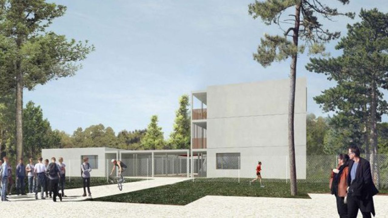 Perspective de la résidence pour hockeyeurs ©CDC Habitat
