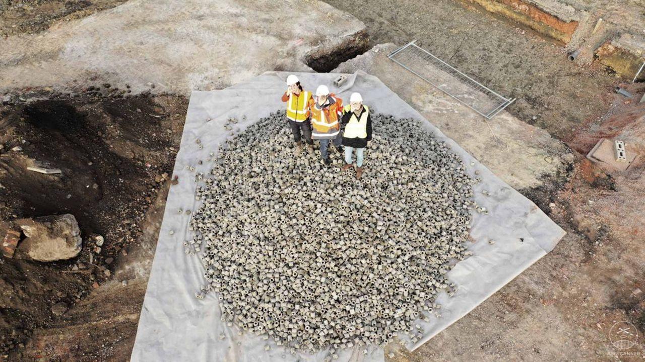 La PME a mis au point à partir des sédiments des fossés et des canaux de la métropole lilloise un produit qui améliore la rétention et le stockage de réservoirs d'eaux pluviales.