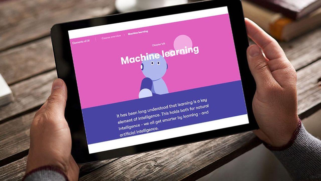Conçu par l'Université d'Helsinki, le programme Elements of AI se compose de sixchapitres totalisant trenteheures de cours. Il est accessible sur PC, tablette ou smartphone.