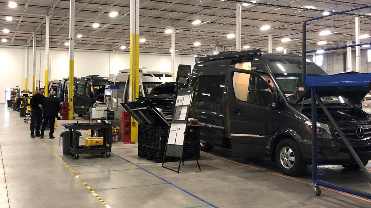 Rapido table aux Etats-Unis sur une production de 400 à 500 véhicules l'an prochain construits sur des bases Fiat Ducato et Mercedes Sprinter.