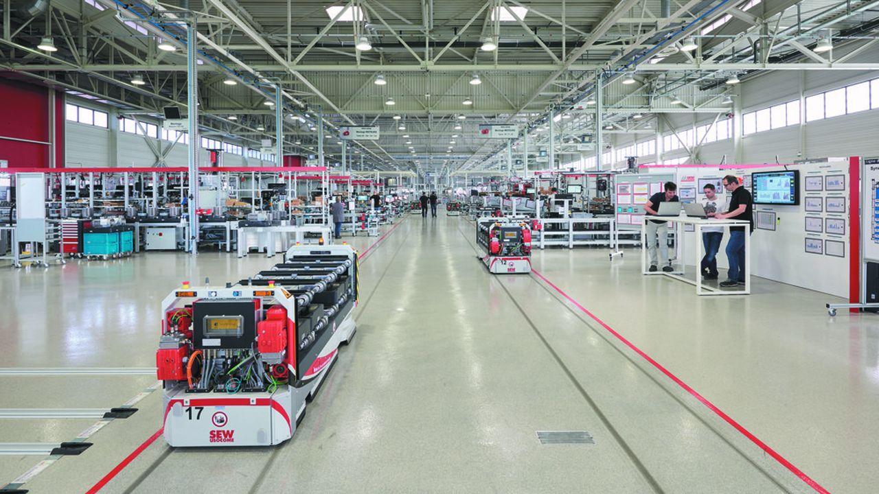 SEW-Usocome, spécialisée dans la fabrication de composants en aluminium et de moteurs électriques.