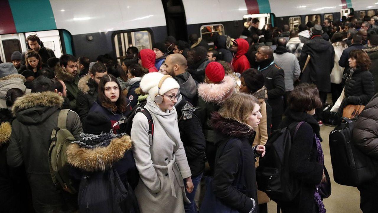 Six lignes de métro seulement fonctionneront ce jeudi à Paris.