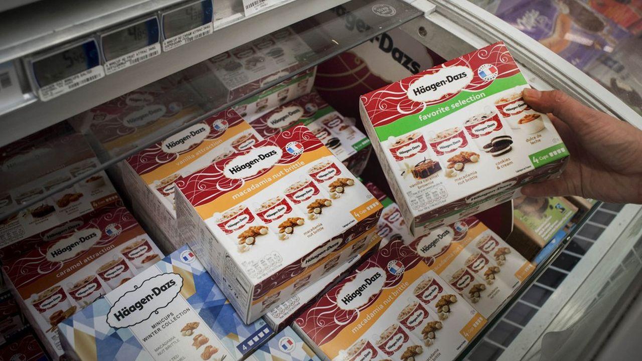 Nestlé vend son activité de glaces, aux Etats-Unis avec pour marque emblématique Haagen Dazs, à côté de Drumstick et Outshine. La vente se fait pour un montant de 4milliards de dollars