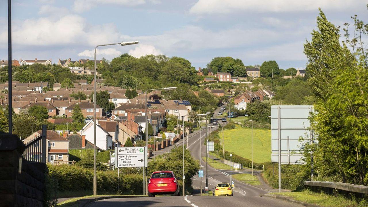 L'ancienne ville minière de Bolsover, dans le Derbyshire.