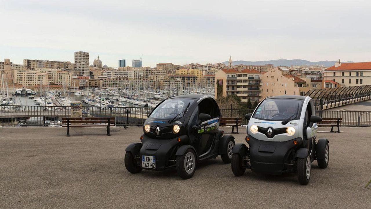 A Marseille, la flotte de Totem Mobi compte près de 180 voitures