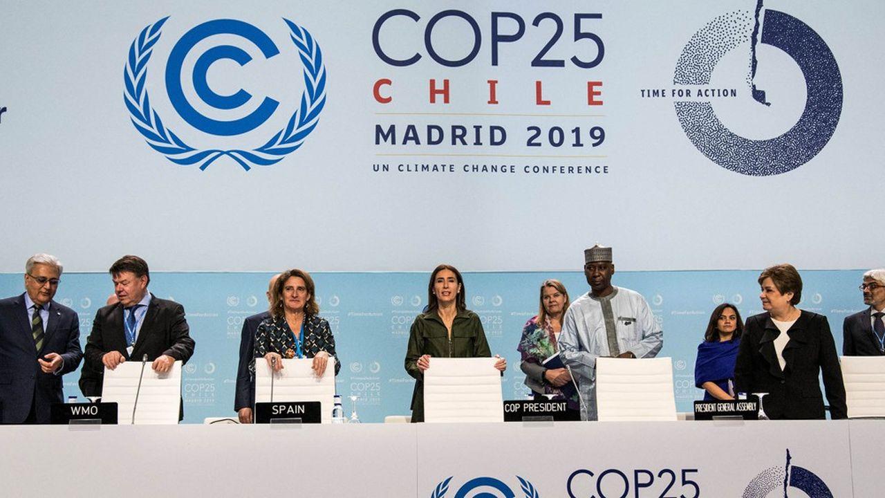 A Madrid, la COP25 en panne d'avancées d'après Les Echos