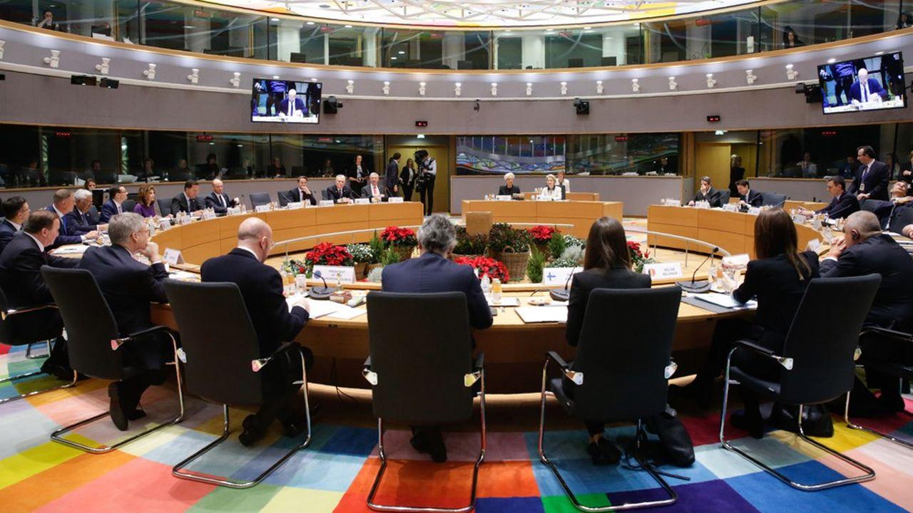 Dans la foulée de leur sommet à 27, les dirigeants européens ont tenu une réunion restreinte aux membres de la zone euro, vendredi matin à Bruxelles.
