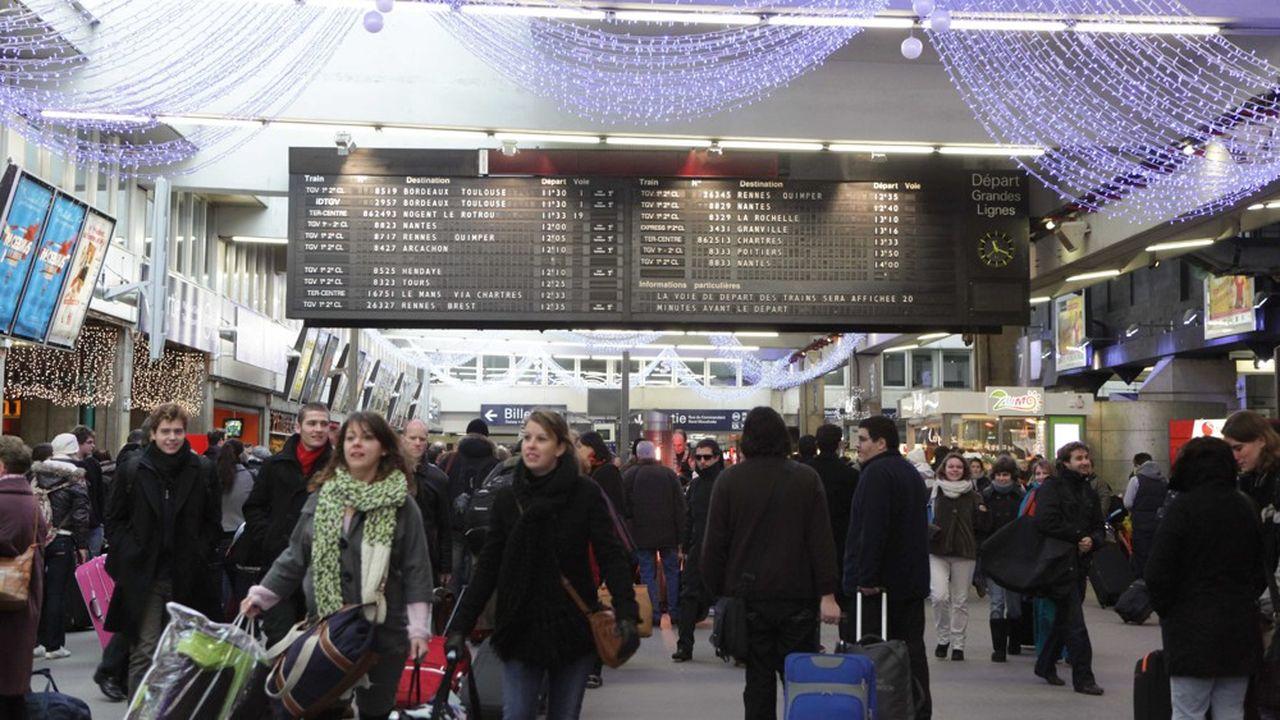 L'an dernier, 15.700 trains avaient circulé sur les grandes lignes de la SNCF pendant les vacances de fin d'année.