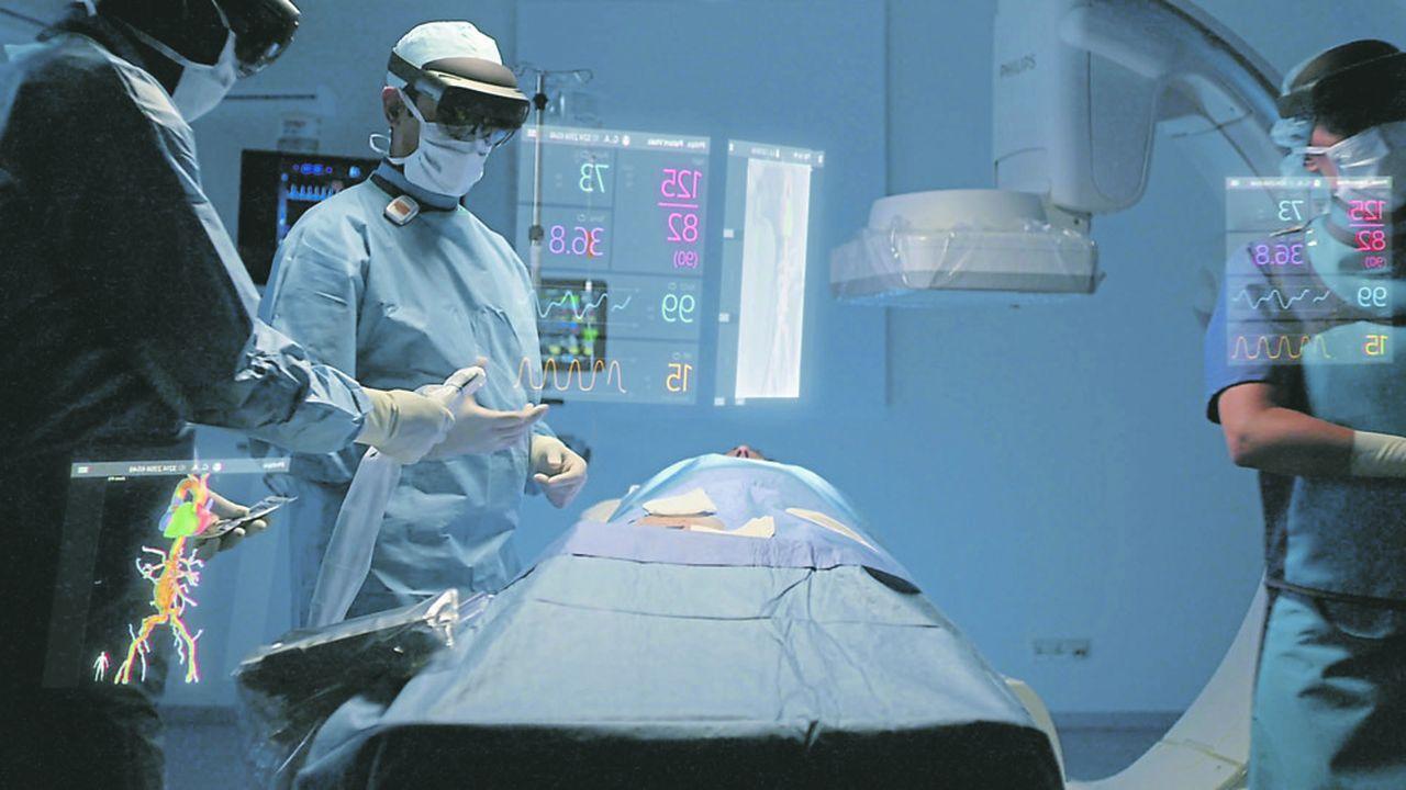 Au lieu de consulter les écrans affichant les images issues de différentes modalités, pour guider son geste, le médecin aura ces informations directement dans ses lunettes qu'il commandera par le geste, la voix ou les mouvements oculaires