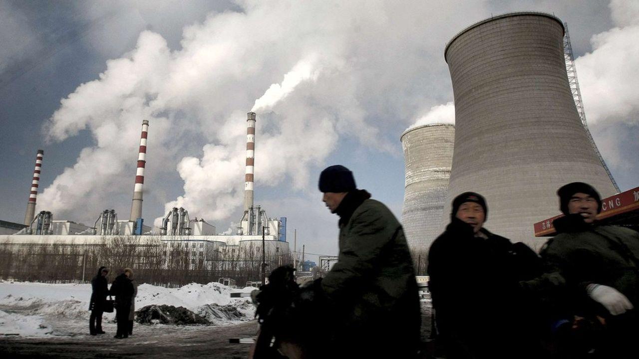 La Chine concentre à elle seule 49% de la consommation mondiale de charbon. Photo: une centrale électrique au charbon dans le nord-est du pays.